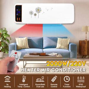 2000W-Electrique-Chauffage-Climatiseur-Radiateur-Mural-Soufflant-Telecommande