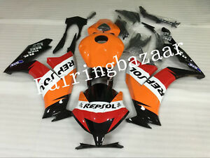 Fit for CBR1000RR 2012-2015 REPSOL Black Orange Red ABS Injection Fairing Kit
