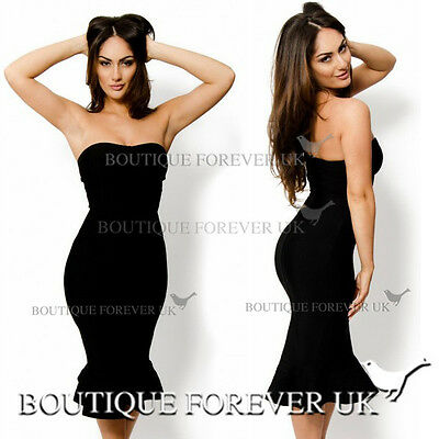 UK WOMENS MERMAID BODYCON PARTY DRESS LADIES COCKTAIL EVENING DRESS SIZE 8-14
