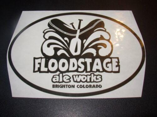 FLOODSTAGE ALE WORKS black Colorado STICKER decal craft beer brewery brewing