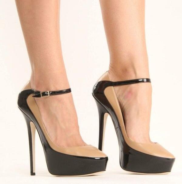 2019 Womens Platform Pump Stilettos Ankle Strap High Heel shoes Uk Sz35-47