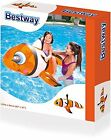 Bestway Lown Fish 41088 Ride on Lilo Pool for Childs Swimming Inflatable Orange