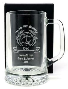 Personalised//Engraved BIRTHDAY Pint Glass Gift Male//Men//18th//21st//30th//40th//50th