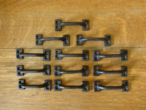 "12 BROWN 3.5/"" MINI DRAWER DOOR CABINET PULLS HANDLE RUSTIC ANTIQUE-STYLE IRON"
