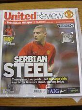 26/08/2007 Manchester United v Tottenham Hotspur  (Excellent Condition)