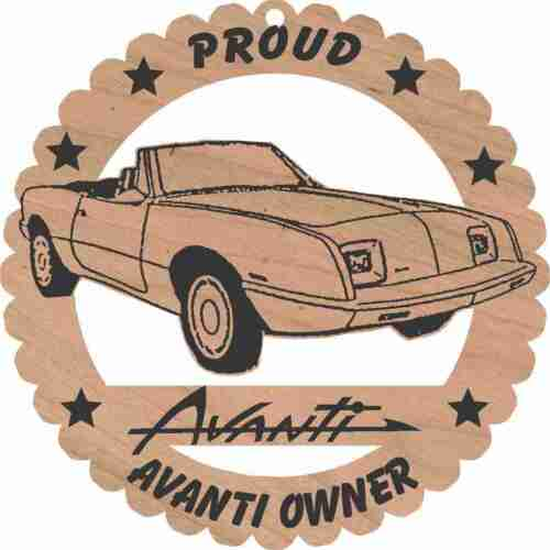 Avanti Convertible Wood Ornament Engraved Large 5 3//4 Inches Round