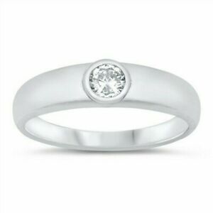 Star Toe Ring Genuine Sterling Silver 925 Clear CZ Jewelry Face Height 9 mm