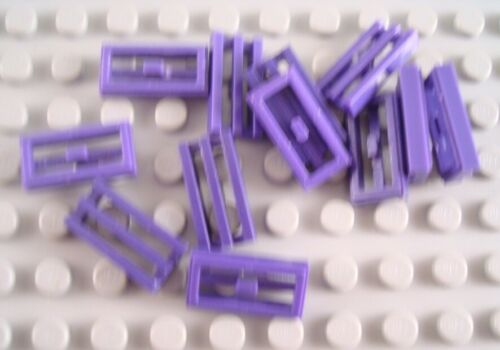 LEGO Lot of 12 Dark Purple 1x2 Grill Tiles Parts and Pieces