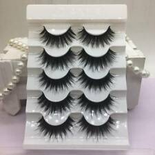 d8441d4456b 5 Pairs 100% Real Mink 3D Volume Corner Thick False Eyelashes Strip Lashes  # X10