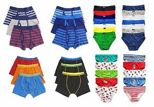 Boys 3 Pack Boxer Trunks Briefs Pants Shorts Age 2-6