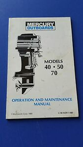 mercury motor manuals free