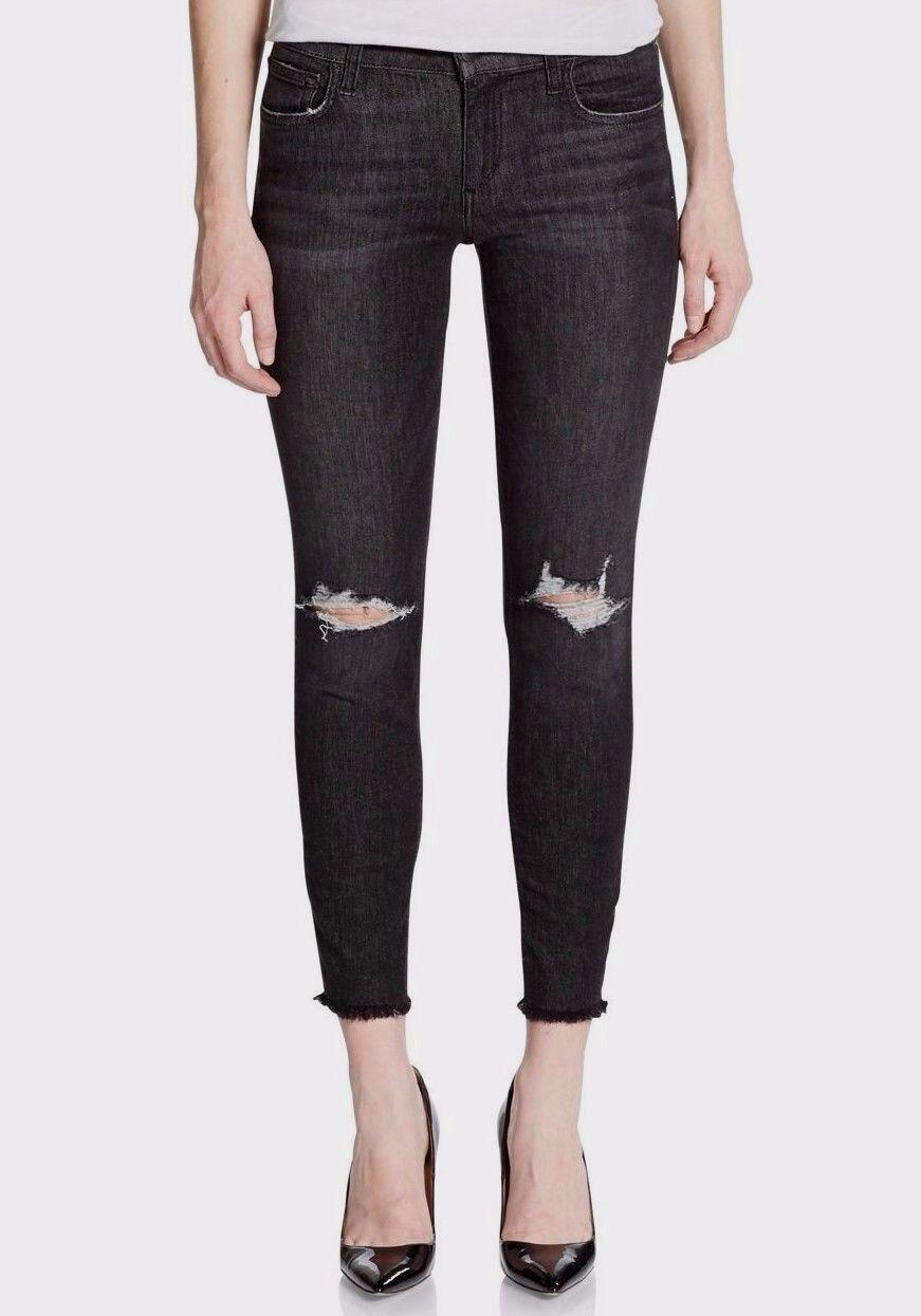 Nwt JOE´S Sz32 Finn Distressed Skinny Knöchel Midrise Jeans Stretch Eden