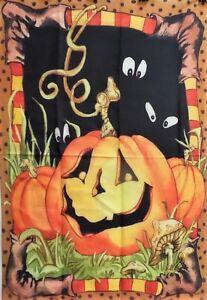 "Jack Pumpkin Halloween Standard House Flag by Toland 28"" x 40"", #0547"