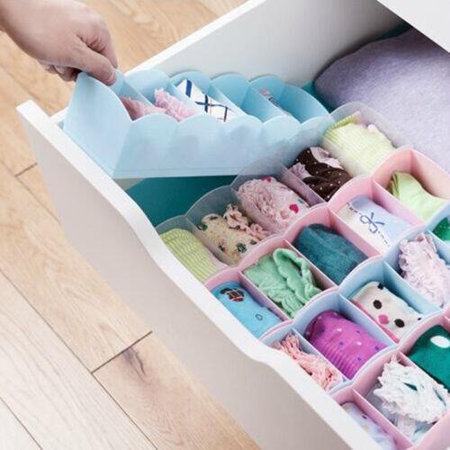 Kunststoff Socken Krawatten Dessous Unterwäsche Aufbewahrungsbox Organizer 4Stk.
