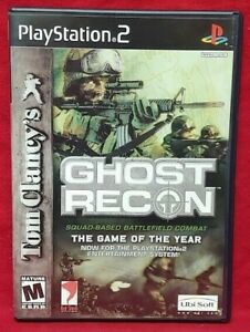 Tom-Clancy-039-s-Ghost-Recon-PS2-Playstation-2-COMPLETE-Game-1-Owner-Near-Mint-Disc