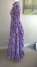 Laura Ashley vintage bustle dress in classic 1970s purple!  Made in Wales