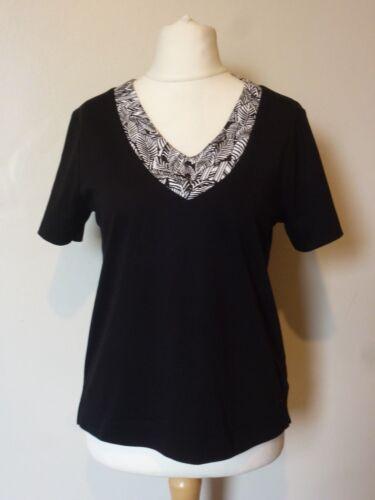 Tigi Madagascar Short Sleeve V Neckline Top Size 10//12 Uk BNWT RRP £22.50 Black