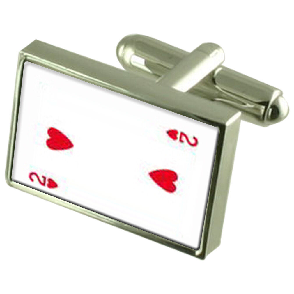 Numero carta da gioco Cuore 2 Gemelli incisi finestra di di di messaggio f5a513