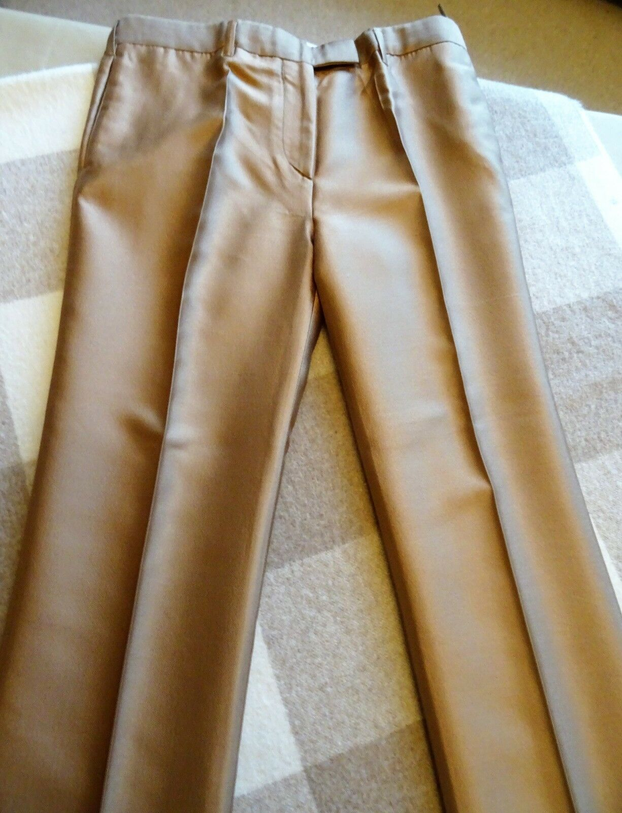 PRADA Silk Wool - blend Strait Leg Long Ladies Pants, Size IT44