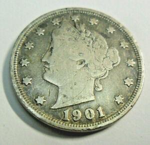 1912 5c Liberty Head V Nickel VF Very Fine