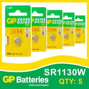Gp-oxyde-d-039-argent-bouton-batterie-389-SR1130-carte-de-5-watch-amp-calculatrice