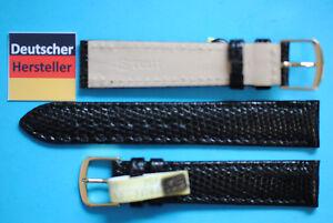 Echt-Eidechse-Uhrband-18mm-schwarz-von-Eulit-aus-Deutschland