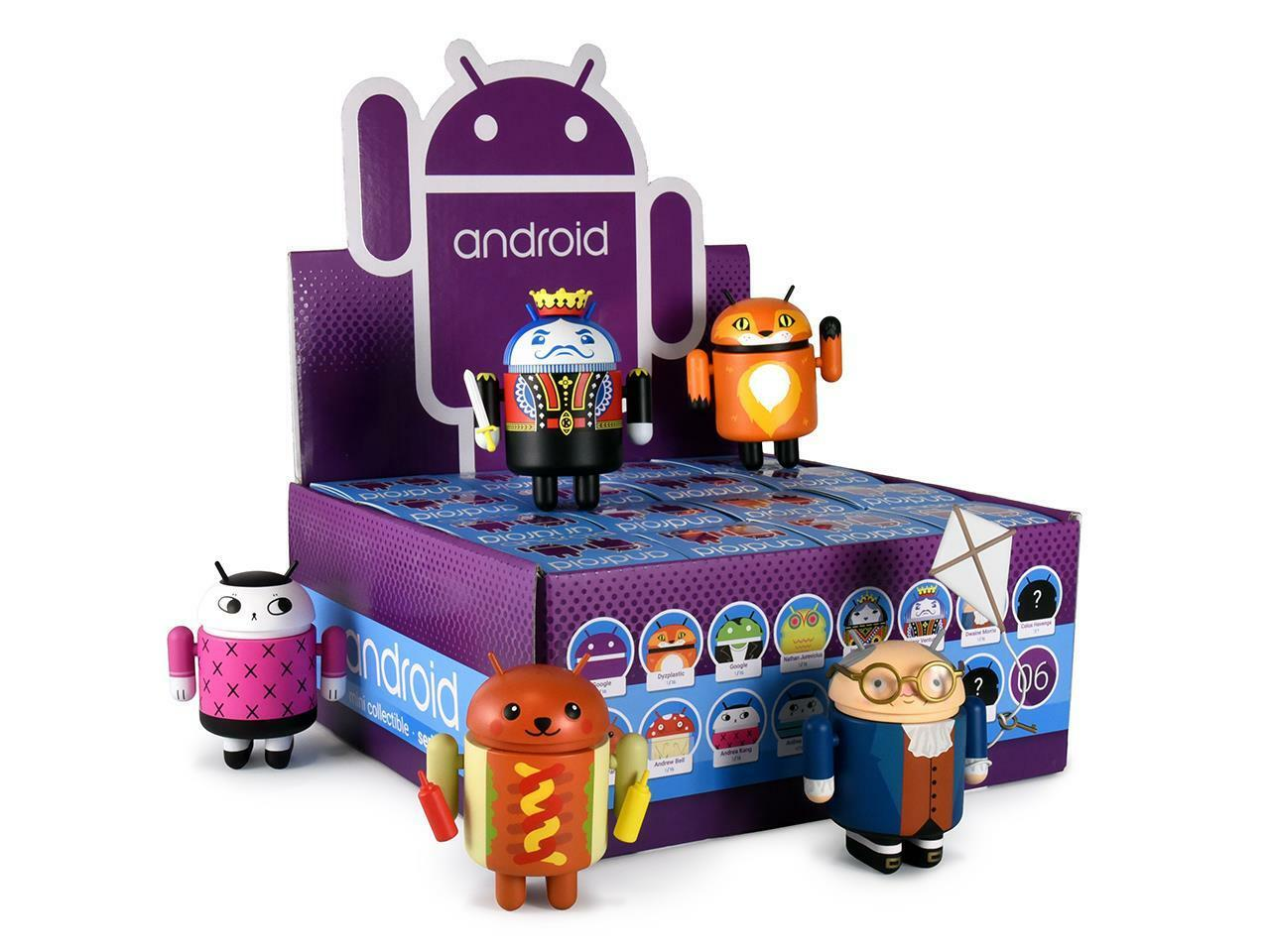 ANDROID SERIES 6 MINI FIGURES FULL CASE OF 16 ANDREW BELL NATHAN JUREVICIUS