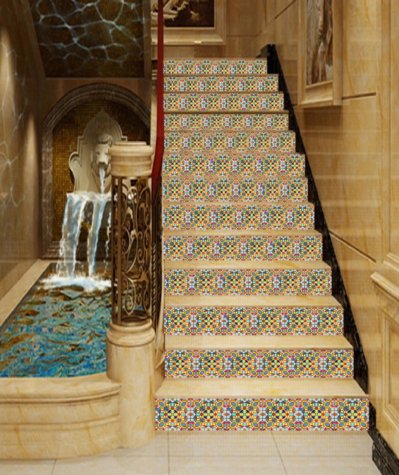 3D Mixed Pattern 14 Stair Risers Decoration Photo Mural Vinyl Decal Wallpaper AU