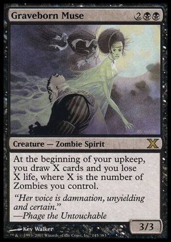 Graveborn Muse MTG MAGIC 10E 10th Edition Eng//Ita Musa Sepolcrogena