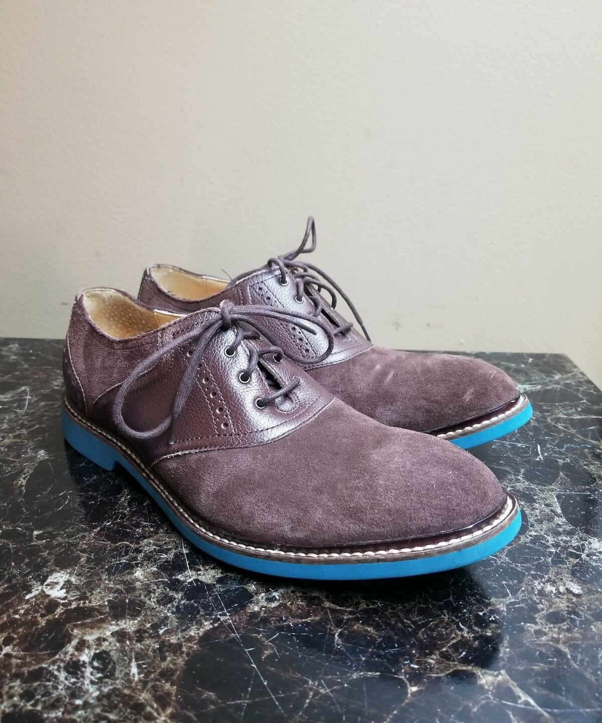 Cole Haan Saddle Oxford 2 Marroneee blu Suede  Dimensione 9 M