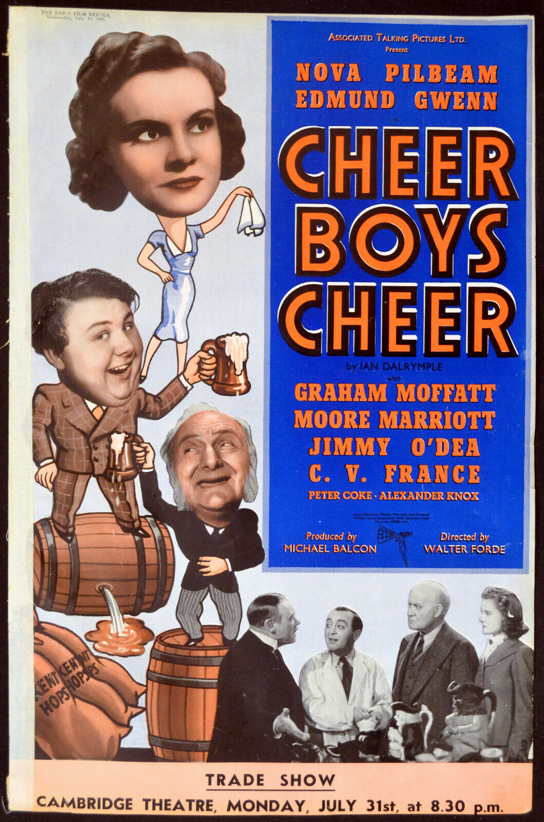 Cheer Boys Cheer(1939) The Daily Film Renter, July 19, 1939, UK trade ad