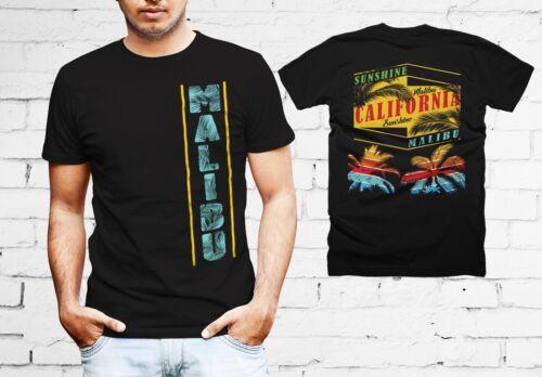 Sunshine Malibu Beach California Summer Both Side Printed Quality Men T-shirt