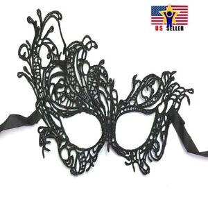 Elegante-Sexy-Antifaz-Encaje-Negro-Fiesta-Bola-Carnaval-Vestido-Mascara-OZ-1