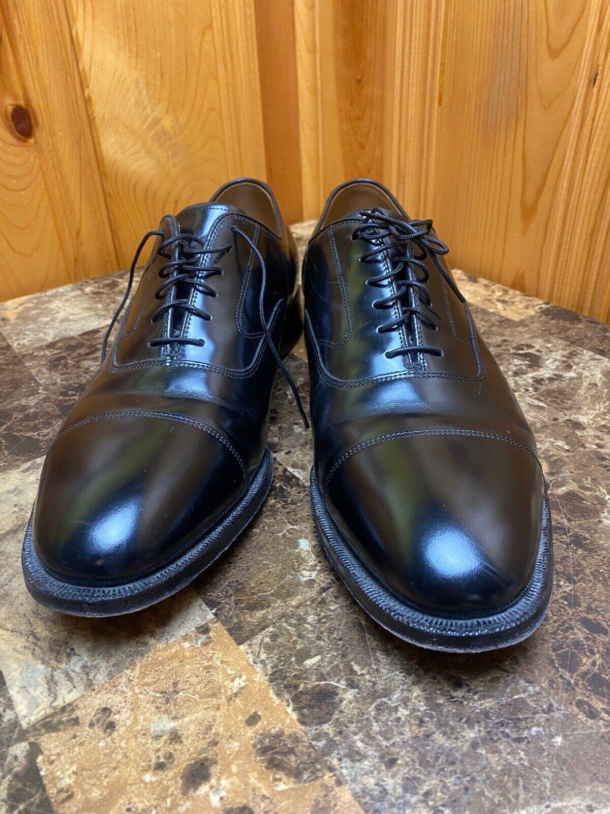 Johnston Murphy Optima Comfort Mens 11.5 D/B Black Leather Oxford Dress Cap Toe