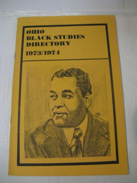 Ohio Black Studies Directory 1973/1974 Booker T. Tall, Arthur A Schomberg Sketch