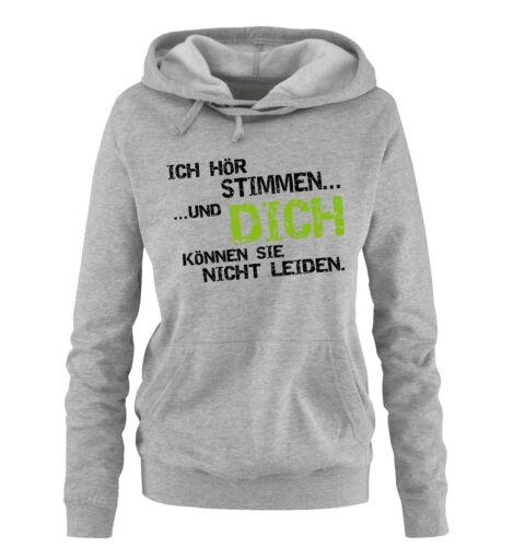 Comedy ShirtsICH HÖRE STIMMEN.. Damen Hoodie