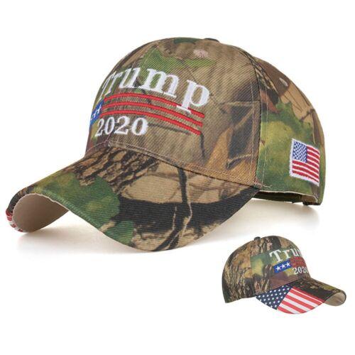 US Flag Bill Mossy Oak Trump 2020 Make America Great Again Camo Cap Baseball Hat