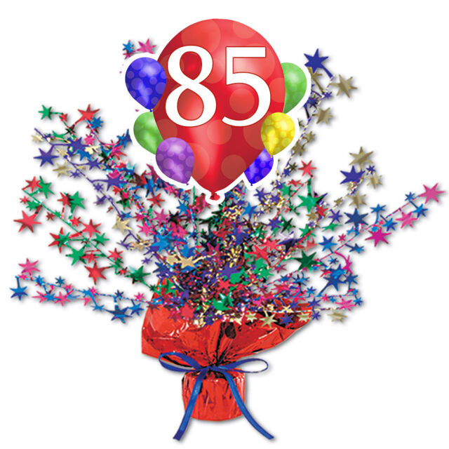 85th Birthday Age 85 Party Supplies BALLOON BLAST STAR CENTERPIECE