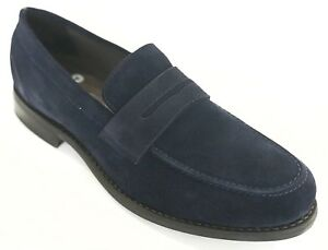 Timberlux Men's Penny Loafer Dress Shoes Royal Blue Suede ...