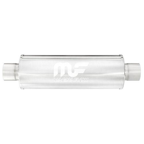 "Magnaflow 12865 Performance Muffler 2.25/"" Center//Center 5x5x14 Round Stainless"
