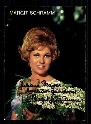 Billiger Preis Margit Schramm Autogrammkarte Original Signiert## Bc 72785 Offensichtlicher Effekt National Original, Nicht Zertifiziert