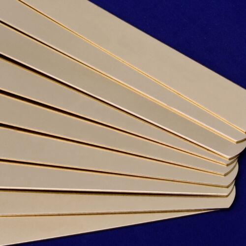 """Laiton rectangle stamping Blanc Bracelets 5pcs environ 5/"""" 5//8/"""" 18 Jauges 10167051"""