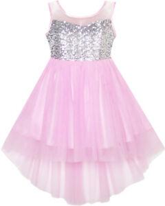 d24193dbd044 Flower Girls Dress Kids Formal Sequin Wedding Pageant Princess ...