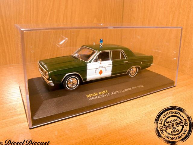 Des Des Des chaussures personnalisées vous  ent de la personnalité DODGE DART GUARDIA CIVIL SPANISH SPAIN POLICE 1:43 1968 a533fb