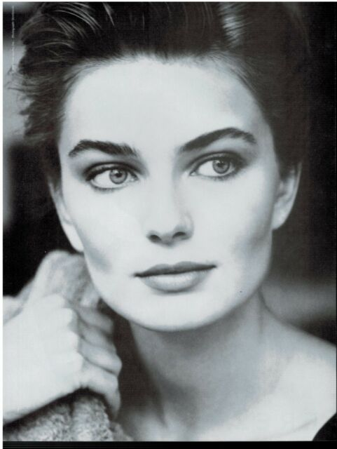 1990  PAULINA PORIZKOVA for ESTÉE LAUDER Time Zone Eyes Magazine Print AD 2-pg