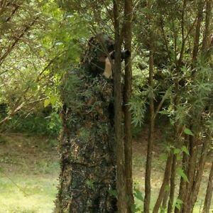 UK-SELLER-GHILLIE-SUIT-3D-CAMO-LEAF-WOODLAND-SHOOTING-PHOTOGRAPHY-CAMOUFLAGE