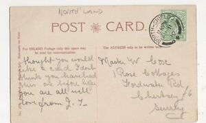 Master-W-Cox-1-Rose-Cottages-Fordwater-Road-Chertsey-1910-Postcard-B097