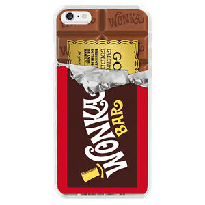 willy wonka golden ticket chocolate bar cover case for apple iphone 6 6s 7 plus ebay. Black Bedroom Furniture Sets. Home Design Ideas