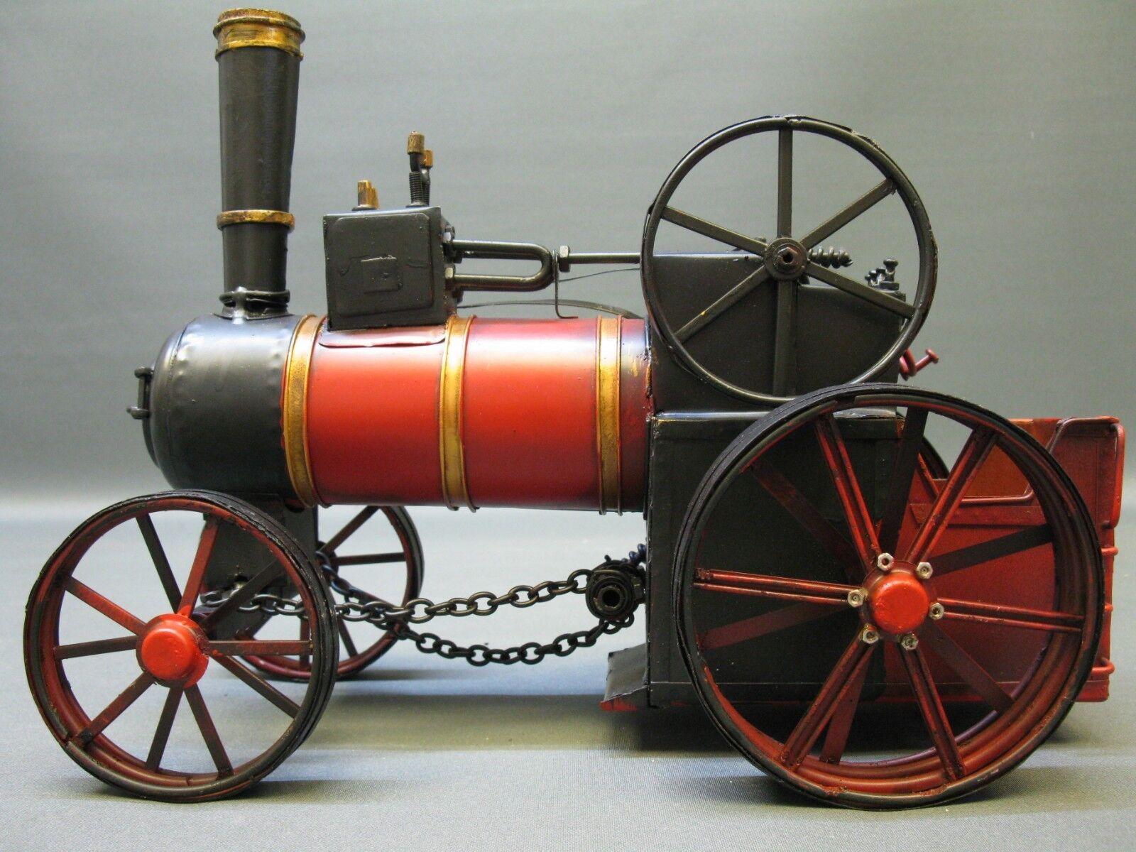 Blech Modellauto Dampftraktor Dampftraktor Dampftraktor Traktor Modell 30 cm 1,3 Kg schwer 684222