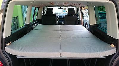 VW T5/T6 Multiflexboard  Konsolen + Scharnier + Board + Matratze - Schlafpaket